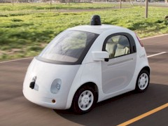 Being used as a test-bed for the planned Google Pop Car Autonomous railroad safety vehicle, a Google car similar to this was recently stopped by local police for driving too slowly - Click for larger image (http://jamesmcgillis.com)