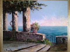 Grayson family C.Proietto Amalfi Coast oil painting - Click for larger image (https://jamesmcgillis.com)