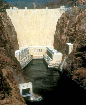 Hoover Dam, Colorado River (Flip 180 Degrees to See Liberty Bell).