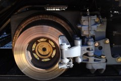 In a Metrolink Hyundai-Rotem cab car, the coach's wheels double as the rotors in a caliper braking system - Click for larger image (http://jamesmcgillis.com)