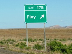 The Floy off-ramp, just west of Crescent Junction celebrates a settlement that disappeared without a trace in the early twentieth century - Click for larger image (http://jamesmcgillis.com)