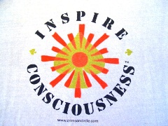 """Inspire Consciousness"" logo form the Quantum Leap Celebration in Taos, New Mexico, October 2008 - Click for larger image. (http://jamesmcgillis.com)"