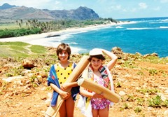 Approaching unspoiled Gillins Beach, Poipu, Kaua'i in 1988 - Click for larger image (http://jamesmcgillis.com)