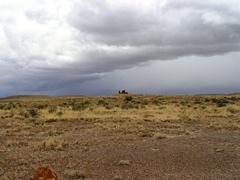 Storm clouds gather over Kin Klizhin Ruin, Chaco Canyon, NM - Click for larger image (http://jamesmcgillis.com)