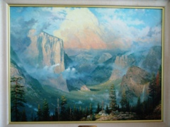 "Another view of Thomas Kinkade's ""Late Afternoon Light at Artists Point, Yosemite Valley"" - Click for larger image (http://jamesmcgillis.com)"