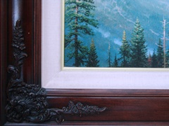 "Detail of ""Brandy"" frame on Thomas Kinkade's ""Yosemite Valley"" - Click for full-frame view (http://jamesmcgillis.com)"