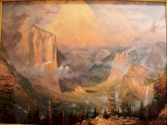 """Late Afternoon Light at Artist's Point, Yosemite Valley"" by Thomas Kinkade (1958-2012) - Click for larger image (http://jamesmcgillis.com)"