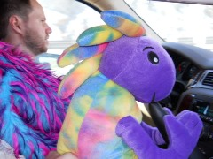 Cotton Candy drives Plush Kokopelli to Burning Man in 2012, so that the little guy can commune with his giant counterpart there - Click for larger (much larger) image (http://jamesmcgillis.com)