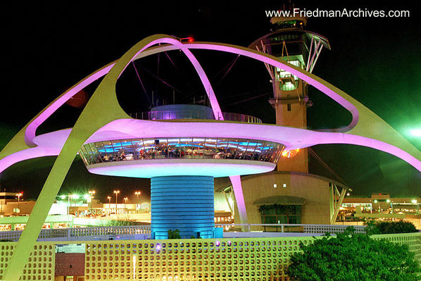 The Theme Building at Los Angeles International Airport (LAX) - Click for larger image (https://jamesmcgillis.com)