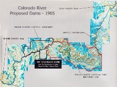 This Bureau of Reclamation promotional piece from the mid-1960s shows the proposed Colorado River dams at both Marble Canyon and Bridge Canyon - Click for larger image (http://jamesmcgillis.com)