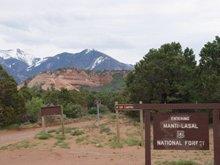Entrance, Manti La Sal National Forest, with the Sierra La Sal in the background, Moab, Utah (http://jamesmcgillis.com)
