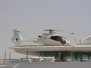 Private helicopter aboard the yacht Princess Mariana (http://jamesmcgillis.com)