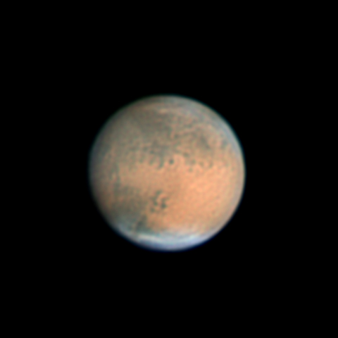 Mars, as viewed from Earth, December 2007 - Click for larger image (http://jamesmcgillis.com)