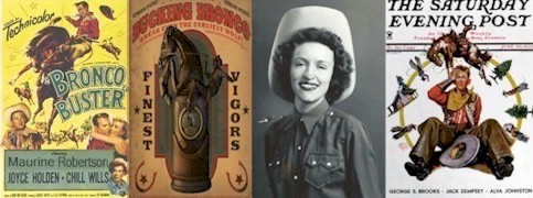 At age 21, Maurine Robertson (1930-1953) was named Grand County, Utah Queen of the Rodeo - Click for larger image (http://jamesmcgillis.com)