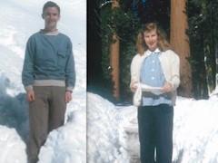 Loron N. (Duke) McGillis and Phyllis McGillis in Yosemite Valley, December 1944 - Click for larger image (https://jamesmcgillis.com)
