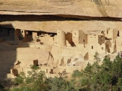 The Great Cliff House at Mesa Verde National Park - Click for larger image showing whimsical faces designed into the facades of many buildings (http://jamesmcgillis)