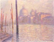 Claude Monet's sunset view of Basilica di Santa Maria della Salute, in Venice, Italy - click for larger image (http://jamesmcgillis.com)