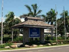 Nadi International Airport sign, Fiji Islands - click for larger image (https://jamesmcgillis.com)