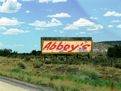 Like a billboard on Old-66, Edward Abbey seems to appear everywhere in Four Corners regional history - Click for larger image (http://jamesmcgillis.com)