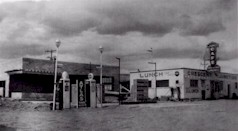 "The ""new"" service station at Crescent Junction in the early 1950s, which forms the core of development still standing today - Click for larger image (http://jamesmcgillis.com)"