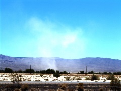 Two days before an outbreak of tornadoes devastated Oklahoma, a desert dust devil reaches tornado size and strength in the American Desert - Click for larger image (http://jamesmcgillis.com)