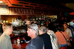 Regulars, friends and former classmates of Bob Lovejoy attend the opening of Lovejoy's The Pickle Room in September 2013 - Click for larger image (https://jamesmcgillis.com)