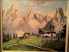 Costantino Proietto original oil painting of spring in the Dolomite Mountains, Northeastern Italy (Courtesy of Nunzio LoCastro) - Click for larger image (http://jamesmcgillis.com)