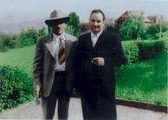Epiphaneo Proietto (left), brother of the artist Costantino Proietto (right), Stuttgart, Germany ca. 1951 - Click for larger image (http://jamesmcgillis.com)