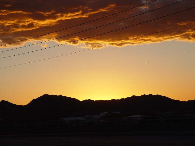 A golden sunset, Quartzsite, Arizona (http://jamesmcgillis.com)