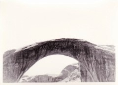 In this 1965 picture taken by the author, Rainbow Bridge became a short day hike after the flooding of Glen Canyon, thus creating Lake Powell - Click for larger image (http://jamesmcgillis.com)