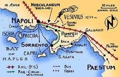Rick Steve's map of Naples, Sorrento and the Amalfi Coast - Click for larger image (https://jamesmcgillis.com)