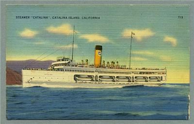 "Postcard of SS Catalina, known as ""The Great White Steamship"" - Click for larger image (http://jamesmcgillis.com)"