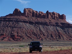 The author, Jim McGillis' Titan truck at Seven Mile, near Moab, Utah - Click for larger image (http://jamesmcgillis.com)