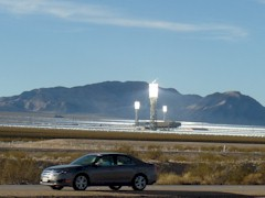 The Brightsource Solar-Thermal generating plant at Ivanpah, California - Click for larger image (http://jamesmcgillis.com)