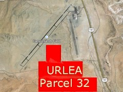 Enhanced Google Map shows the approximate location of URLEA Parcel 32, now destined for transfer to SITLA and conversion to private property, most likely ending up as a petrochemical production facility or a commercial development - Click for larger image (https://jamesmcgillis.com)