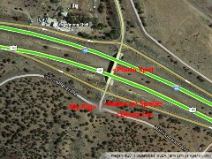 Scene of the crime - Google Map of the Winona off-ramp east of Flagstaff on I-40 - Click for larger image (http://jamesmcgillis.com)