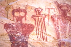 The Spirit of the Ancients Rise up in opposition to the Hydrocarbon Highway planned for their ancient rock art sanctuary - Click for larger image (https://jamesmcgillis.com)