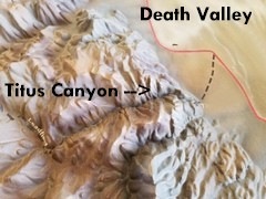 Titanothere and Titus Canyons combine to make the toughest driving experience in Death Valley National Park - Click for larger image (http://jamesmcgillis.com)