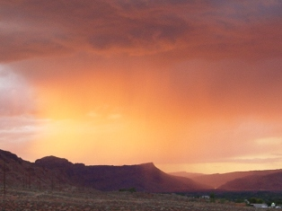 Golden light over the Moab Valley at sunset, Moab, Utah - Click for larger image (http://jamesmcgillis.com)