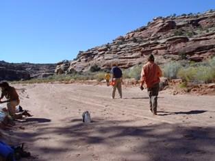 Barefoot walk in Seven Mile Canyon - Click for larger Image (https://jamesmcgillis.com)