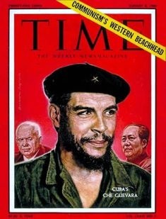 Old Time Magazine cover, from August 8, 1960, featuring Che Guevara overshadowing both Khrushchev and Mao. Beyond revolution, Che was famous for touring South America on a 1939 Norton 500 Motorcycle - Click for larger image (http://jamesmcgillis.com)