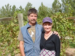 Curt & Alesia Stripeika, owners of the Spanish Valley Vineyards & Winery at the vineyard in 2014 - Click for larger image (http://jamesmcgillis.com)