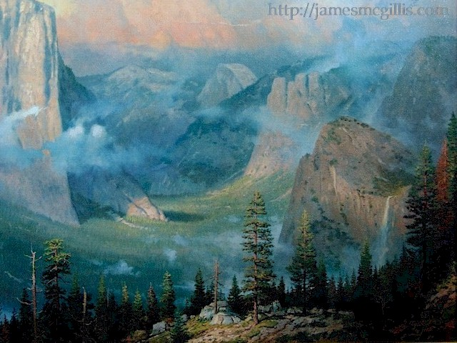Yosemite Artist/'s Point by Thomas Kinkade Signed and Numbered Print
