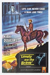 The original movie poster from the 1962 move, 'Lonely Are The Brave', staring Kirk Douglas as 'Jack Burns' - Click for larger image (http://jamesmcgillis.com)