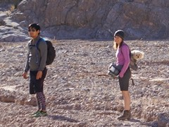 The female hiker shown here in Lower Titus Canyon had her dog ensconced in a backpack - Click for larger image (http://jamesmcgillis.com)