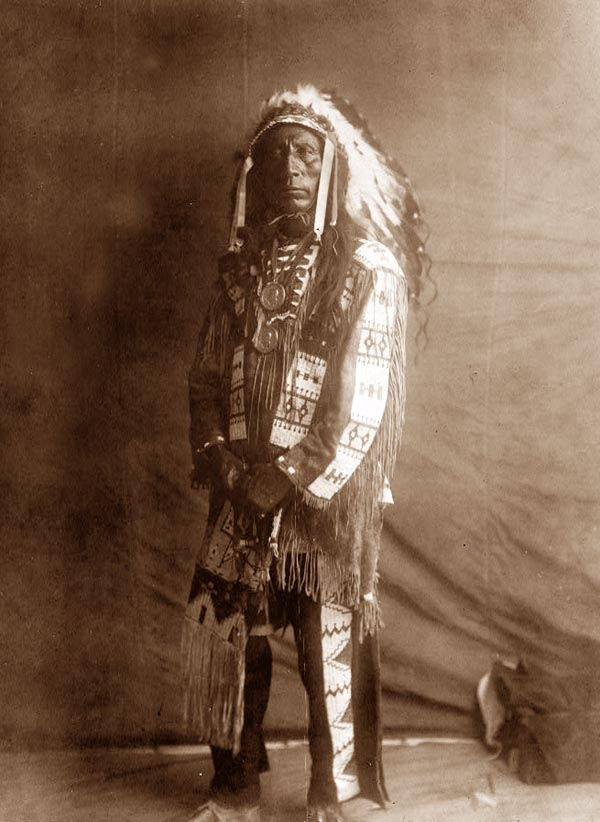Sioux American Indian Warrior (Vintage Picture)