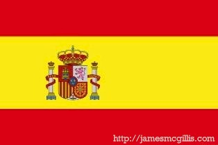 Current Spanish Flag (La bandera de Espana) - For larger image, click on flag (http://jamesmcgillis.com)