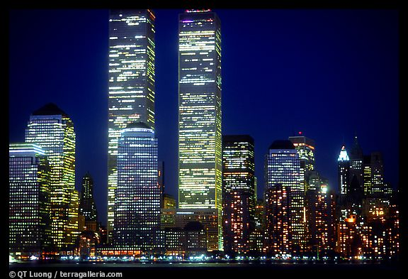 Twin Towers standing in New York City, prior to September 11, 2001 - Click for larger image (http://jamesmcgillis.com)