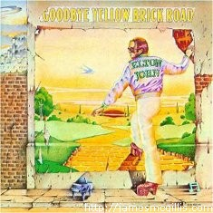"The Elton John 1973 ""Goodbye Yellow Brick Road"" album cover, Click image for larger image. (http://jamesmcgillis.com)"